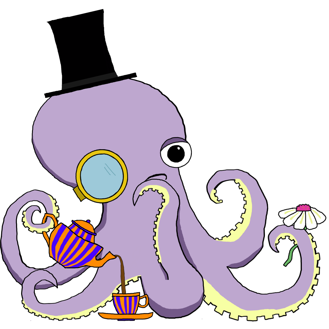 Tetra the Octopus, our mascot and an epicurean.
