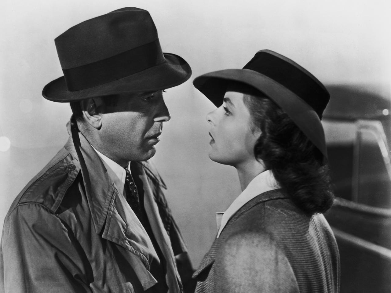 Bogart & Bergman in Casablanca.