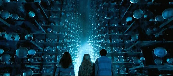 Hall of Prophecy in the Department of Mysteries, from Harry Potter and the Order of the Phoenix.