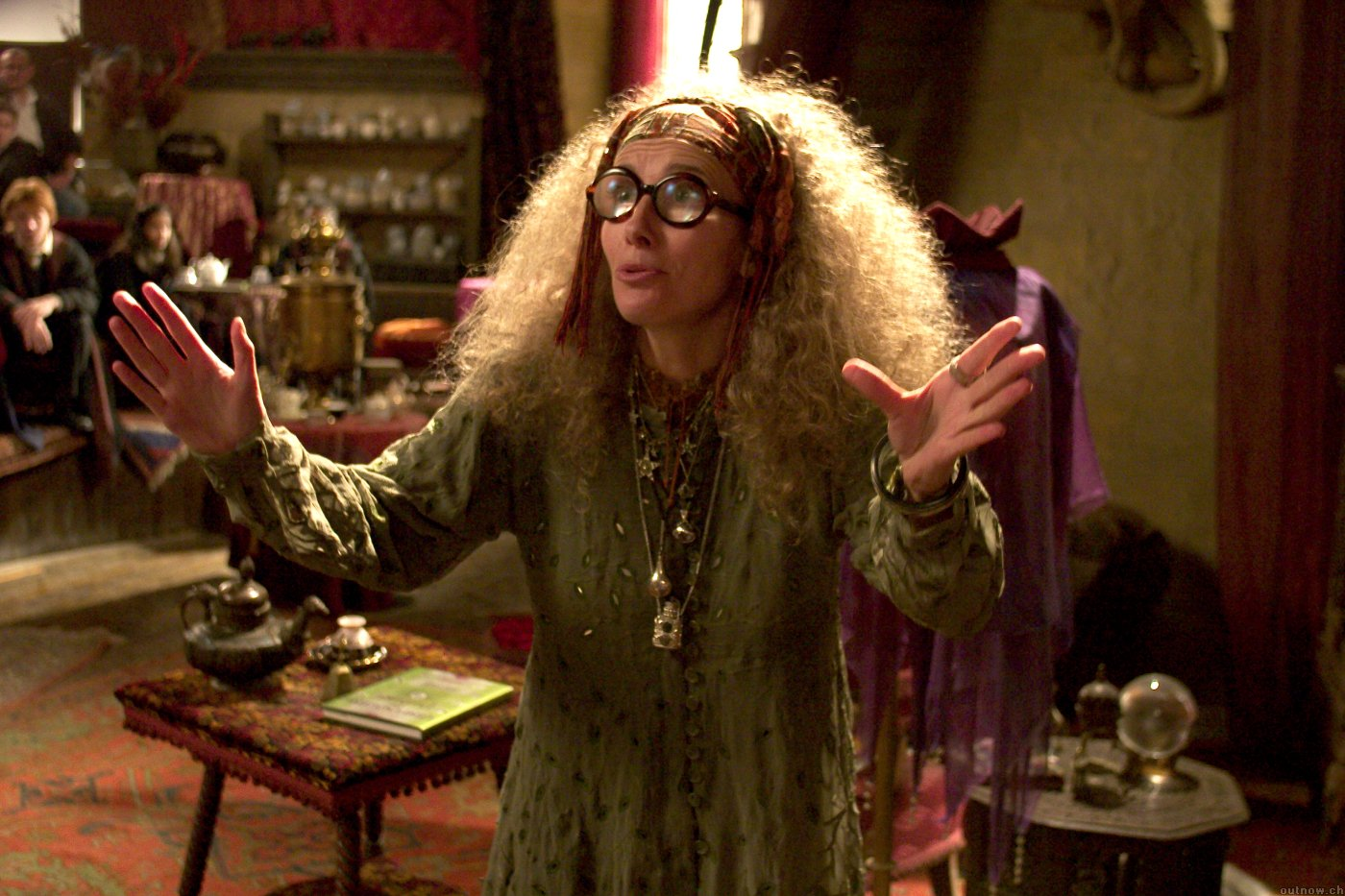 Professor Trelawney, teaching a class.