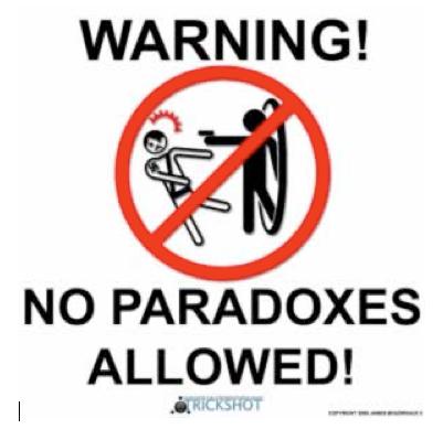 Warning! No Paradoxes Allowed!