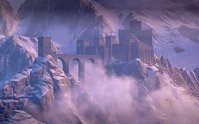 Skyhold: a fortress in the mountains