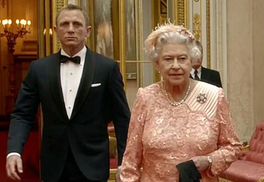 Daniel Craig as James Bond with Queen Elizabeth II