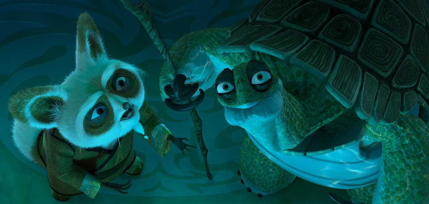 Shifu and Oogway from Kung Fu Panda
