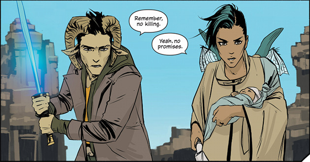 Example panel from Saga