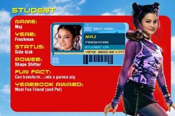 Magenta from Sky High, who can turn into a guinea pig.