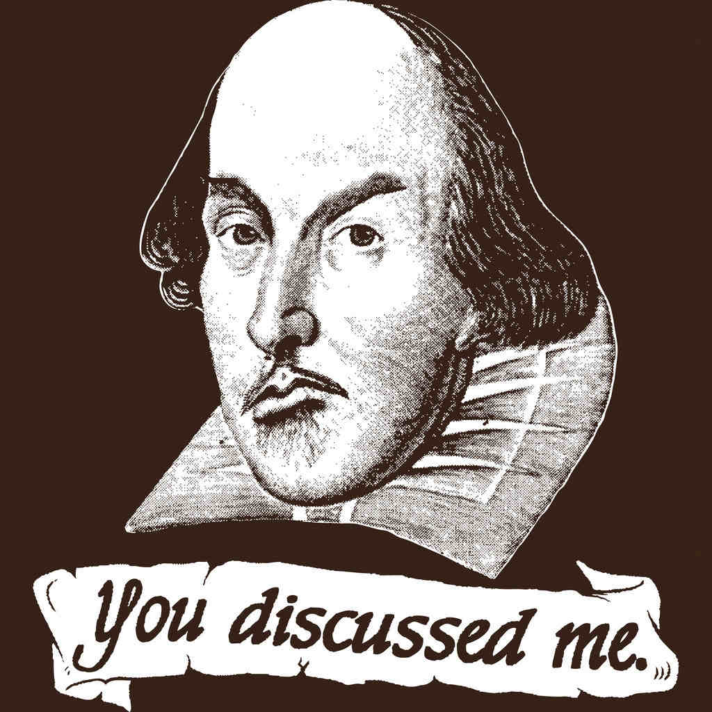 A Shakespearean pun, playing on the close sound-relationship between discussed and disgust.