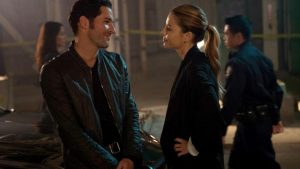 Lucifer and Chloe at a crime scene