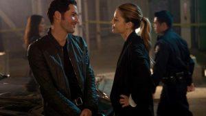 Lucifer and Chloe at a crime scene