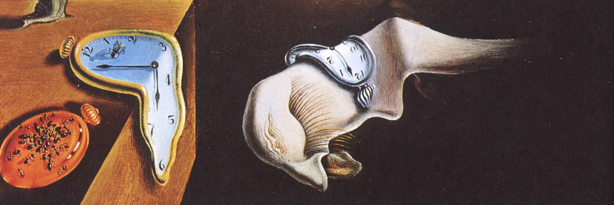 Salvador Dali's the persistence of memory.