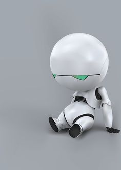 Marvin the Paranoid Android, from Hitchhiker's Guide to the Galaxy