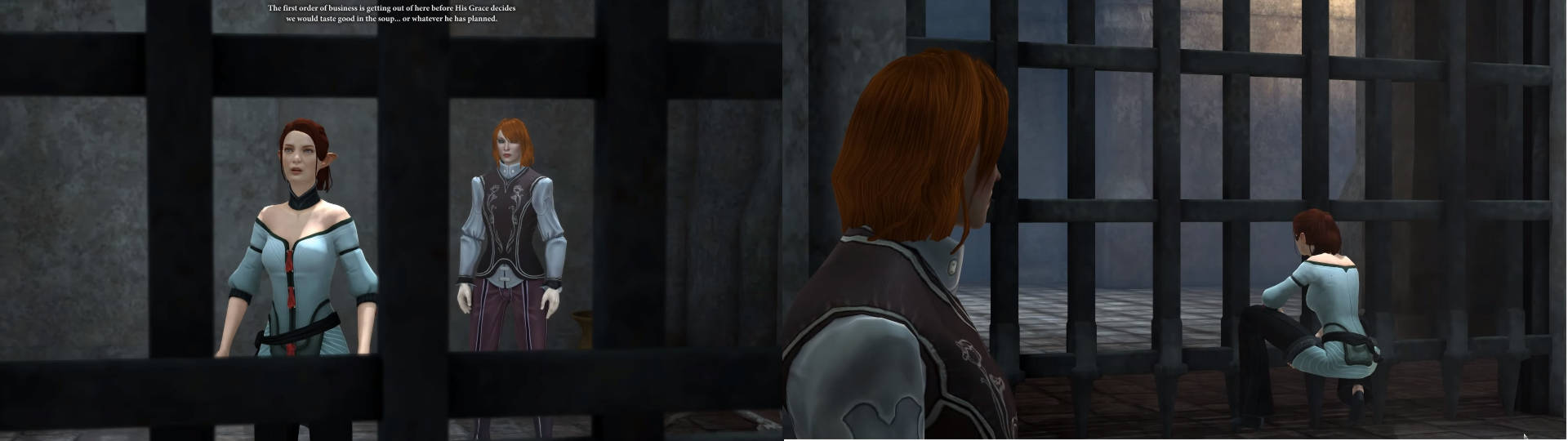 Tallis and Hawke in prison, DA2