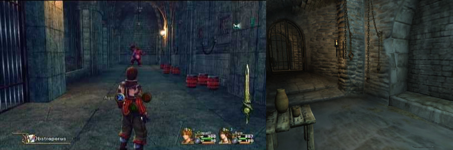 Image showing prison opening levels from Infinite Undiscovery and Morrowind