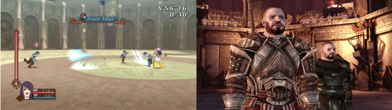 Image showing gladiator levels from Tales of Vesperia and DAO