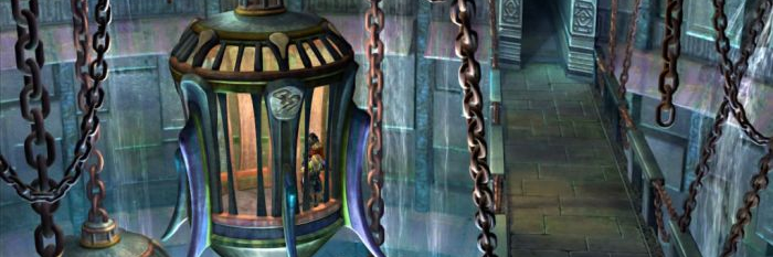 Hanging prisons in Bevelle, from FFX