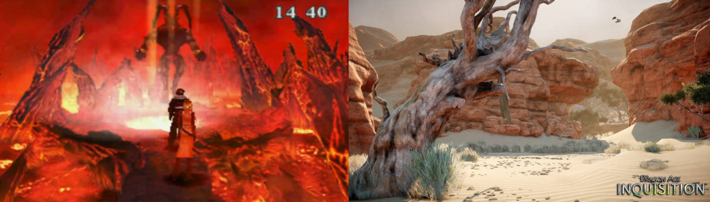 Image showing fire cavern from FFVIII and desert level from DAI