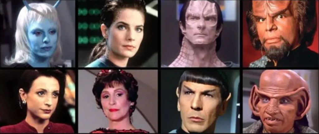 Collage of Star Trek Aliens
