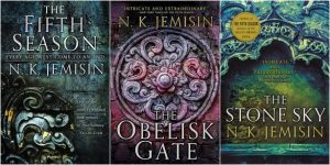 Book covers of the Broken Earth Trilogy