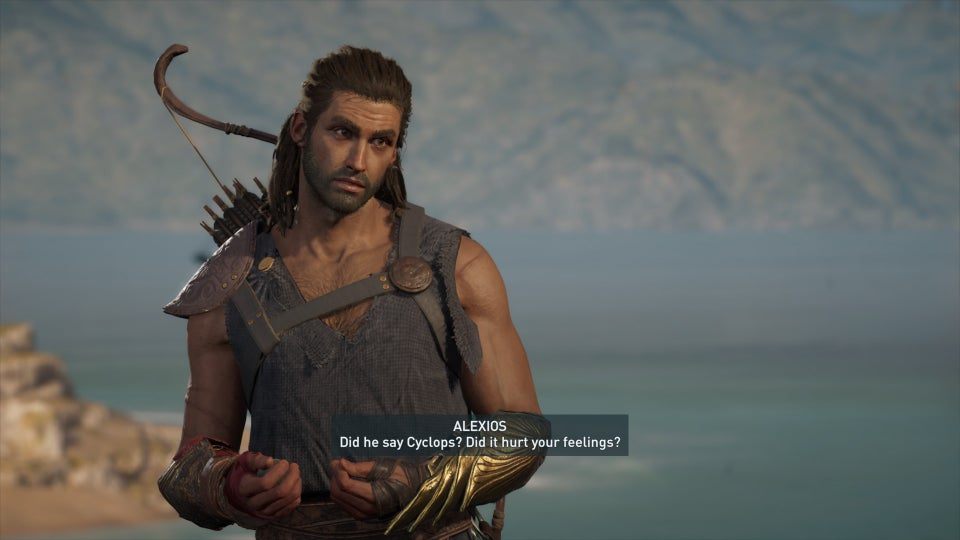 A picture of Alexios from Assassin's Creed: Odyssey.