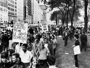 Photo of protestors of the Vietnam War