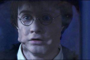 Harry transforming into Goyle