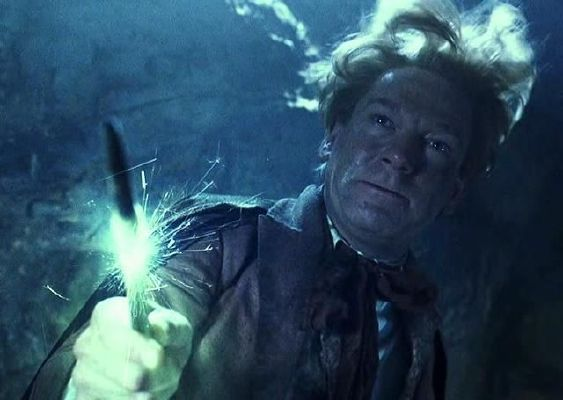 Lockhart casting obliviate with a broken wand
